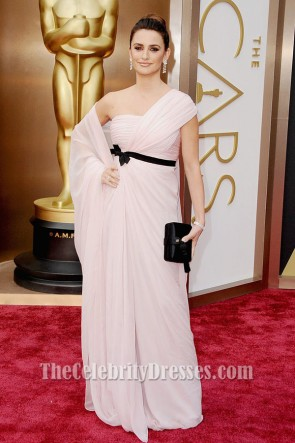 Penelope Cruz One Shoulder Formal Dress 2014 Oscar Red Carpet