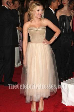 Scarlett Johansson Prom Cocktail Dress Costume Institute Gala 2008 Red Carpet