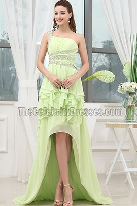 Sexy Backless High Low Prom Dress Evening Formal Gown