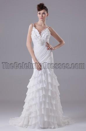 Sexy Meerjungfrau Spaghettiträger Brautkleid