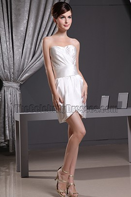 Sexy Mini Ivory Cocktail Party Dress Short Wedding Dresses