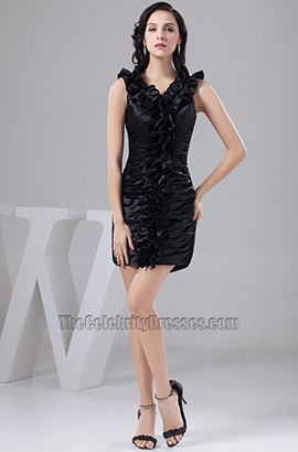 Sheath/Column Short Black Party Cocktail Homecoming Dresses