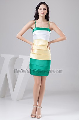 Sheath/Column Spaghetti Straps Homecoming Party Graduation Dresses