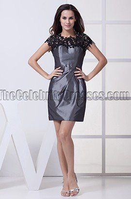 Gray Short Mini Homecoming Party Graduation Dresses
