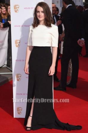 Sophie McShera Elfenbein Und Schwarzes Formales Kleid BAFTA TV Awards Roter Teppichkleid TCD6226