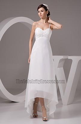 Spaghetti Straps Hi-Low A-Line Floor Length Wedding Dresses