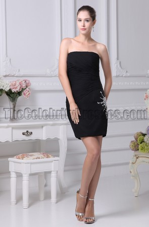 Strapless Little Black Party Homecoming Graduation Dresses