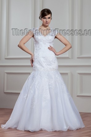 Trumpet/Mermaid Lace Floor Length Wedding Dress