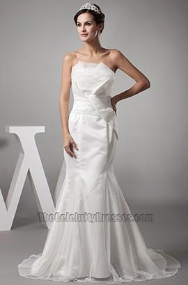 Discount Trumpet /Mermaid Strapless Organza Wedding Dress