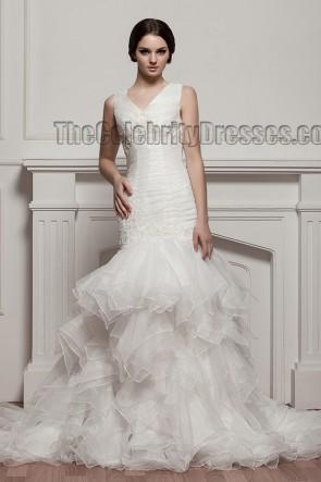 Trumpet/Mermaid V-Neck Embroidered Wedding Dress