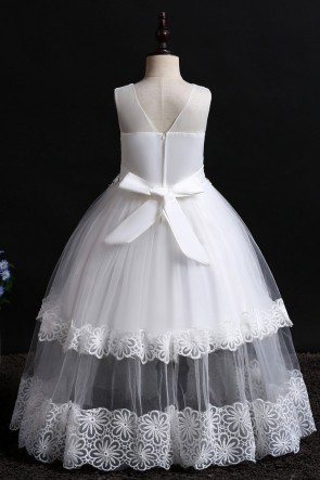 A-line Lace Flower Girl Dress