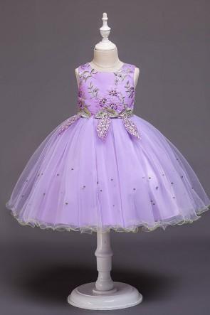 Ball-Gown Tulle Flower Girl Dress