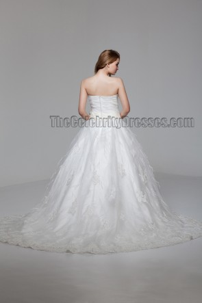 Ball Gown Strapless Sweetheart Chapel Train Wedding Dress