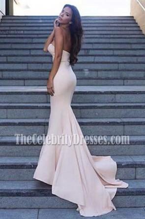 Beige Schatz Meerjungfrau Abendkleid formale Kleider