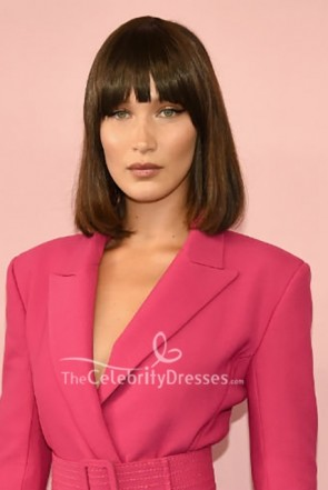 Bella Hadid Pink Belt Blazer CFDA Awards