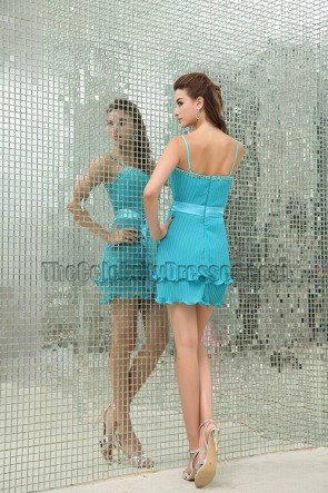 Promi inspiriertes blaues Mini-Party-Abschluss-Heimkehrkleid
