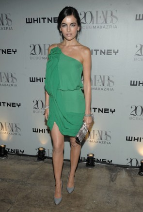 Camilla Belle Short One Shoulder Green Cocktail Party Dress