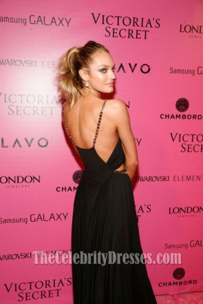 Candice Swanepoel Sexy Abendkleid Victoria's Secret Fashion Show 2012 Nach Party