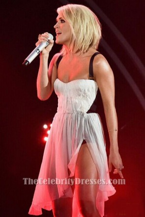 Carrie Underwood Grammys 2016 Performance Kurzes Kleid Party Cocktailkleider