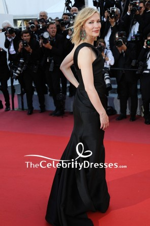 Cate Blanchett Black One-shoulder Sheath Formal Dress  2018 Cannes Film Festival Red Carpet TCD7886