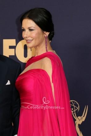 Catherine Zeta-Jones ausgeschnittenes Kleid 2019 Emmy Awards