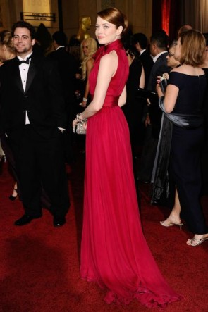 Berühmtheit Kleider Emma Stein formales Kleid 2012 Oscars Roter Teppich