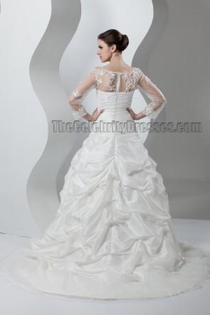 Promi-inspiriertes Langarm-Brautkleid in A-Linie