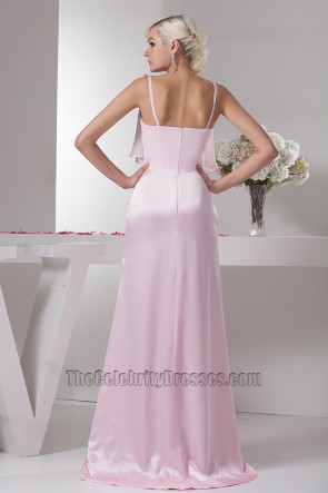 Celebrity Inspired Pink Prom Gown Evening Formal Dresses