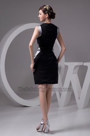 Celebrity Inspired Short Black Graduation Party Dresses