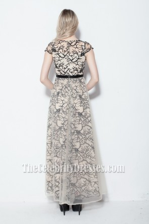 Celebrity Inspired Tulle Formal Dress Prom Evening Gowns