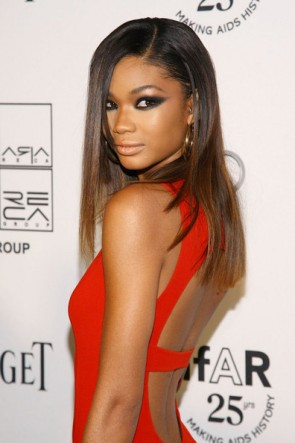 Chanel Iman Sexy Red Prom Evening Dress 2nd Annual amfAR Inspiration Gala For Discount