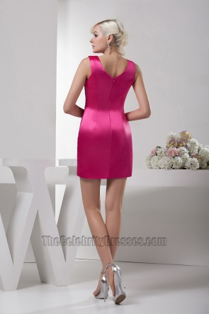 Chic Fuchsia Short Mini Party Cocktail Homecoming Dresses