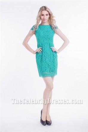 Chic Short Lace Cap Sleeve Cocktail Party Dresses