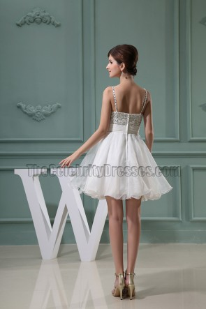 Cute Ivory Sweetheart Tulle A-Line Homecoming Party Dresses