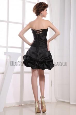 Cute Strapless A-Line Little Black Dress Party Dresses