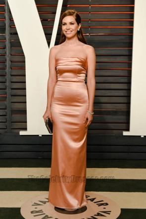 Dasha Zhukova  2016 Vanity Fair Oscar Party Strapless Dress Red Carpet  Prom Gown 1