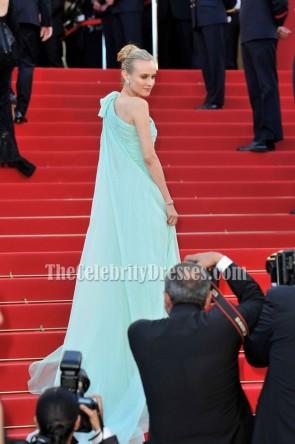 Diane Kruger Ein Schulter Formales Kleid 65. Filmfestspiele von Cannes Roter Teppichkleid.
