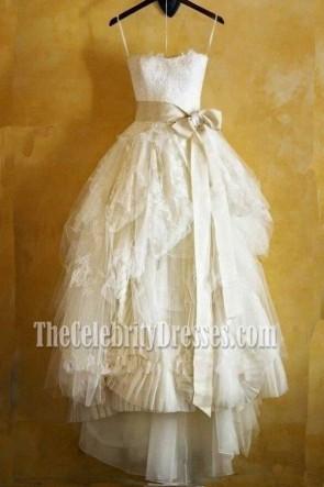 Rabatt nach Maß Spitze Hochzeitskleid