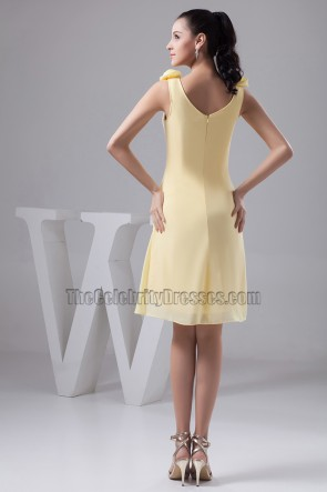 Discount Short Daffodil Party Graduation Homecoming Dresses