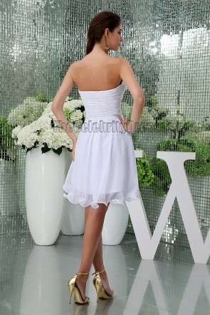 Discount Short White Strapless Party Homecoming Graduation Dresses