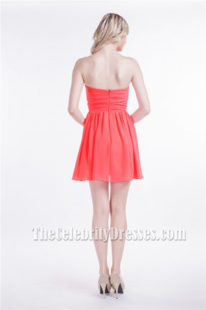 Discount Strapless Sweetheart Short Mini Party Homecoming Dresses