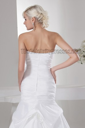 Rabatt trägerlose Taft Trompete / Meerjungfrau Brautkleid