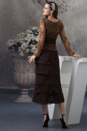 Elegant Brown Formal Gown Mother Of Bride Dresses