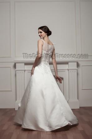 Elegantes bodenlanges A-Line Brautkleid Ballkleid
