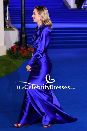 Emily Blunt Royal Blue Mermaid Evening Dress Premiere Of Mary Poppins Returns TCD8209