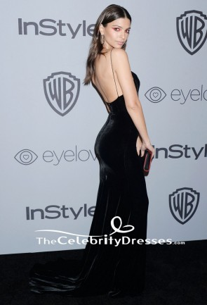 Emily Ratajkowski Spaghetti-Trägern Abendkleid HBOs Golden Globe Awards After-Party