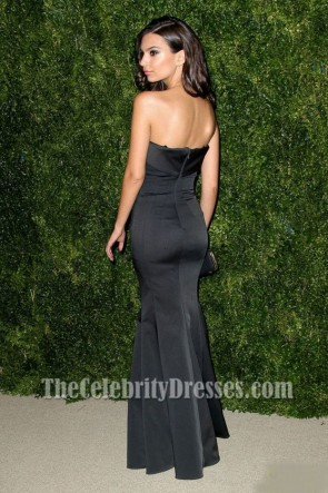Emily Ratajkowski Schwarzes Abendkleid CFDAVogue Fashion Fund Awards