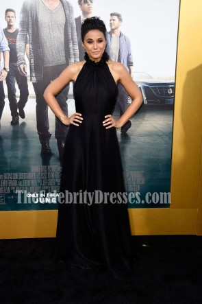 Emmanuelle Chriqui Black Halter Evening Prom Dress Entourage Premiere 6