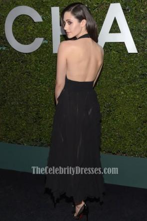 Emmy Rossum Schwarzes Partykleid Claiborne Swanson Franks Junges Hollywood Buchstart