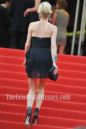 Eva Herzigova Kleine schwarze Kleid Cannes Filmfest Rote Teppich Party Kleider